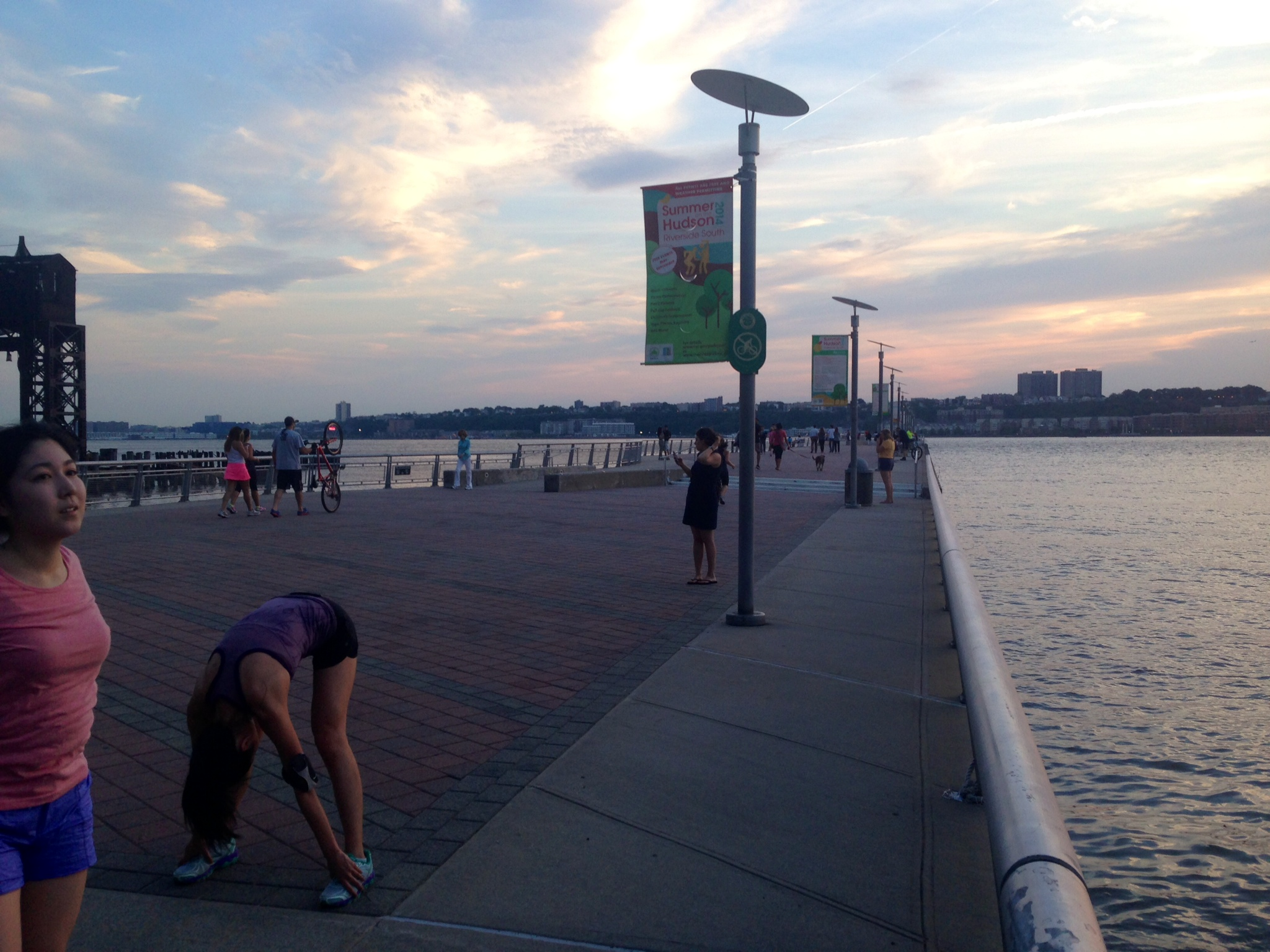 Running on the pier off the West Side Highway