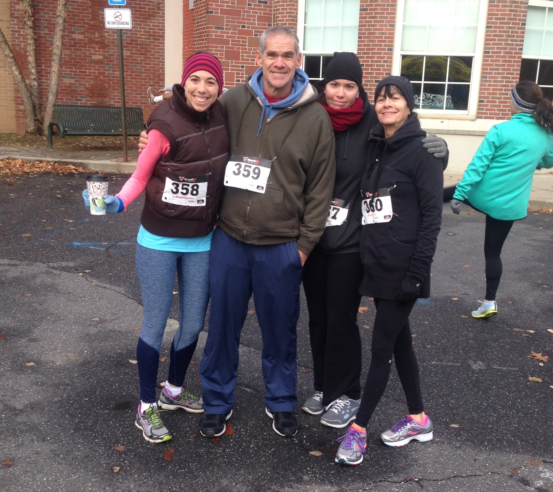 Pre-Turkey Trot Family Photo