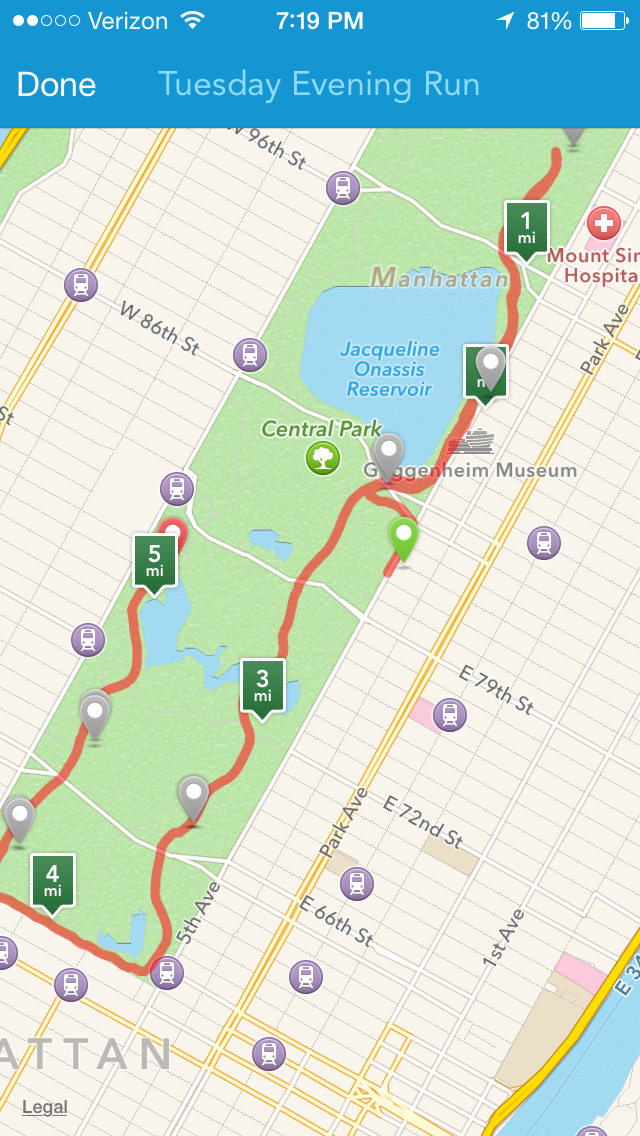 group run in Central Park