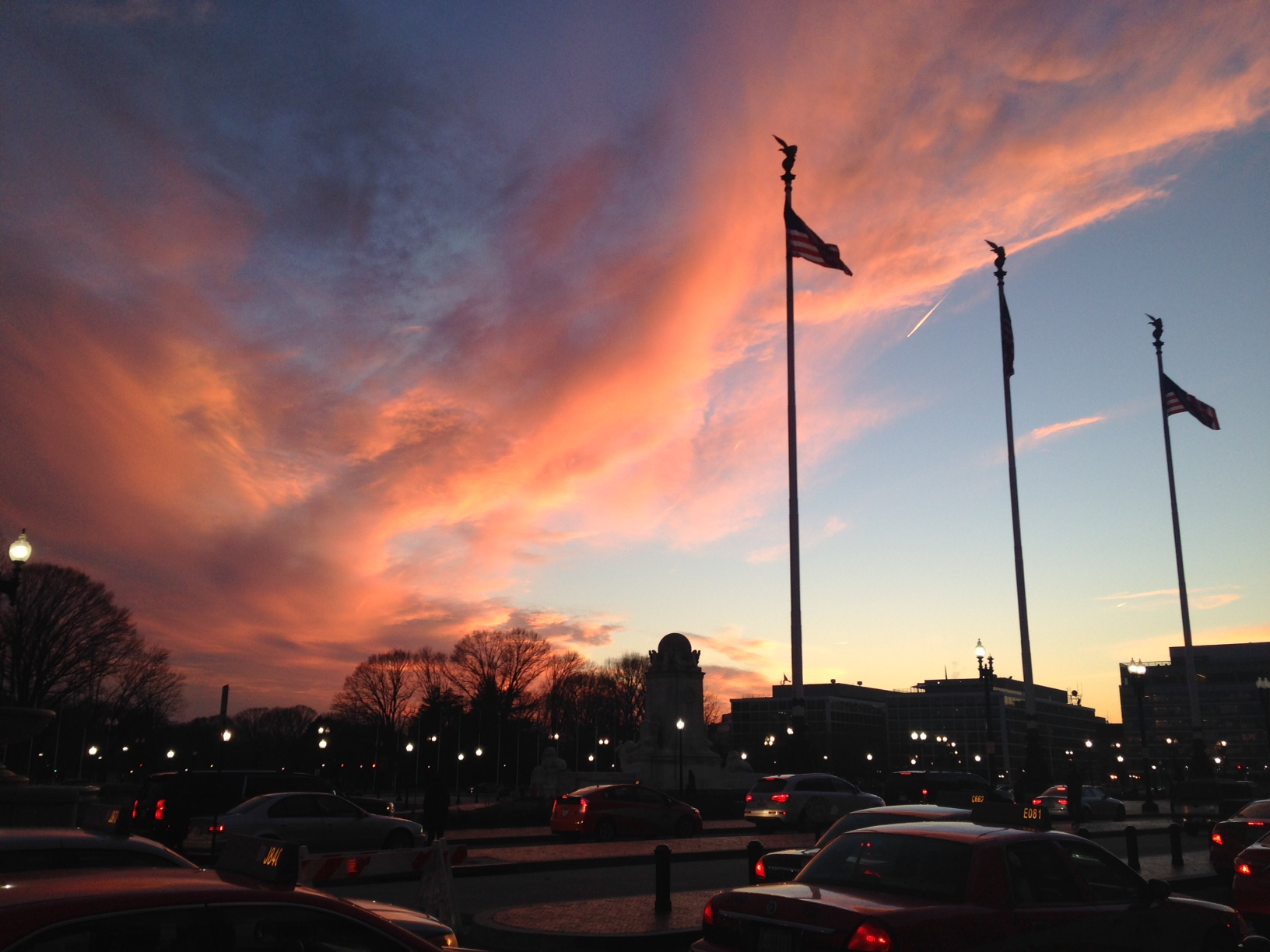 sunset in DC
