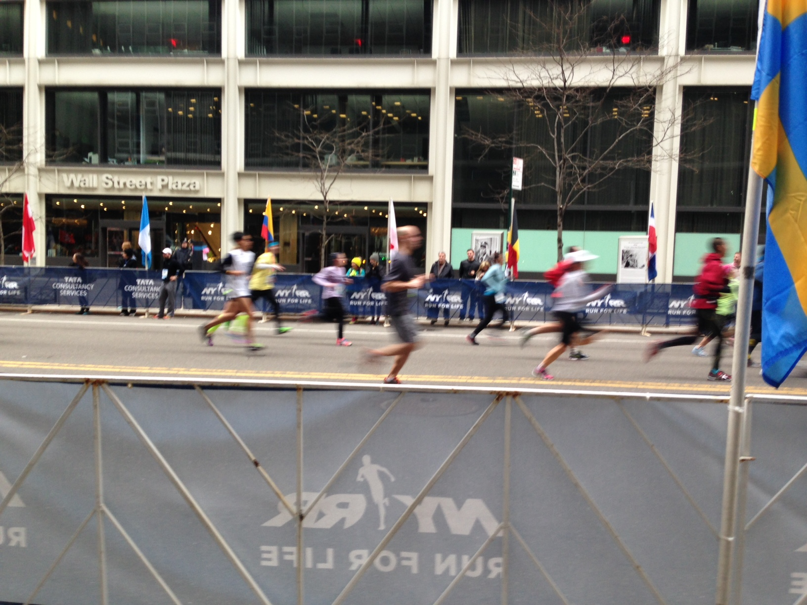 near the NYC Half finish line