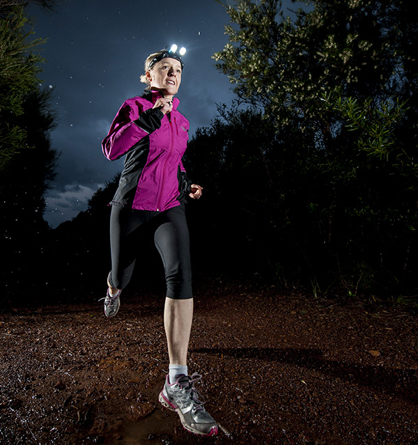 running with a light from Trail Run mag.