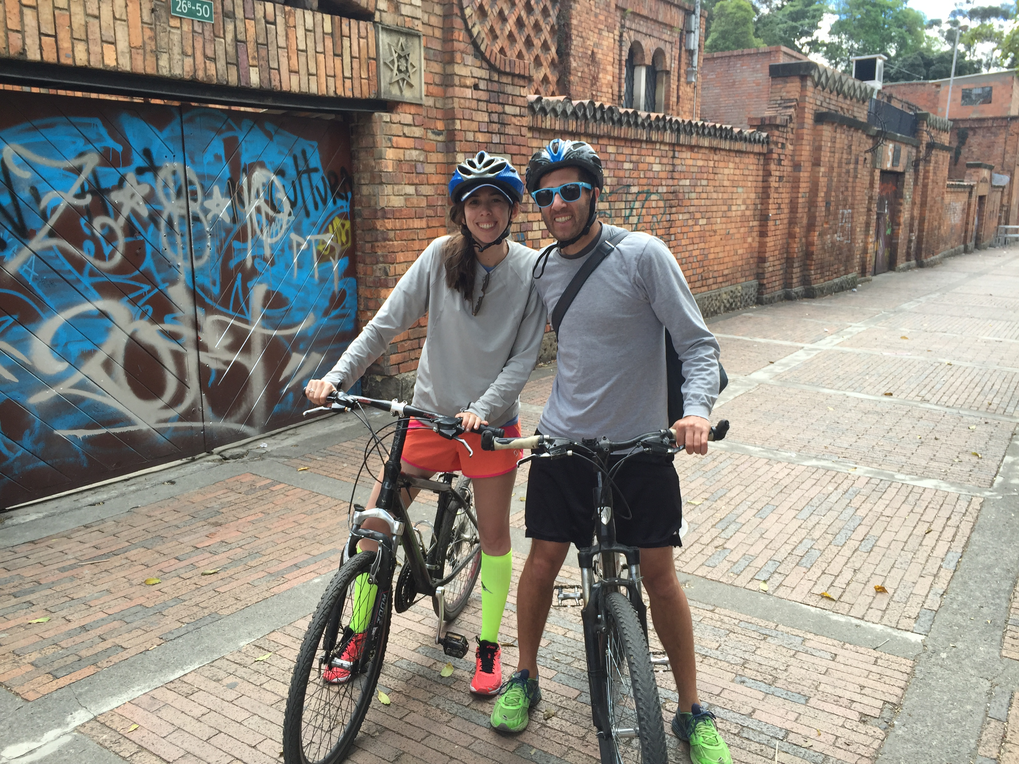 Biking around Bogota