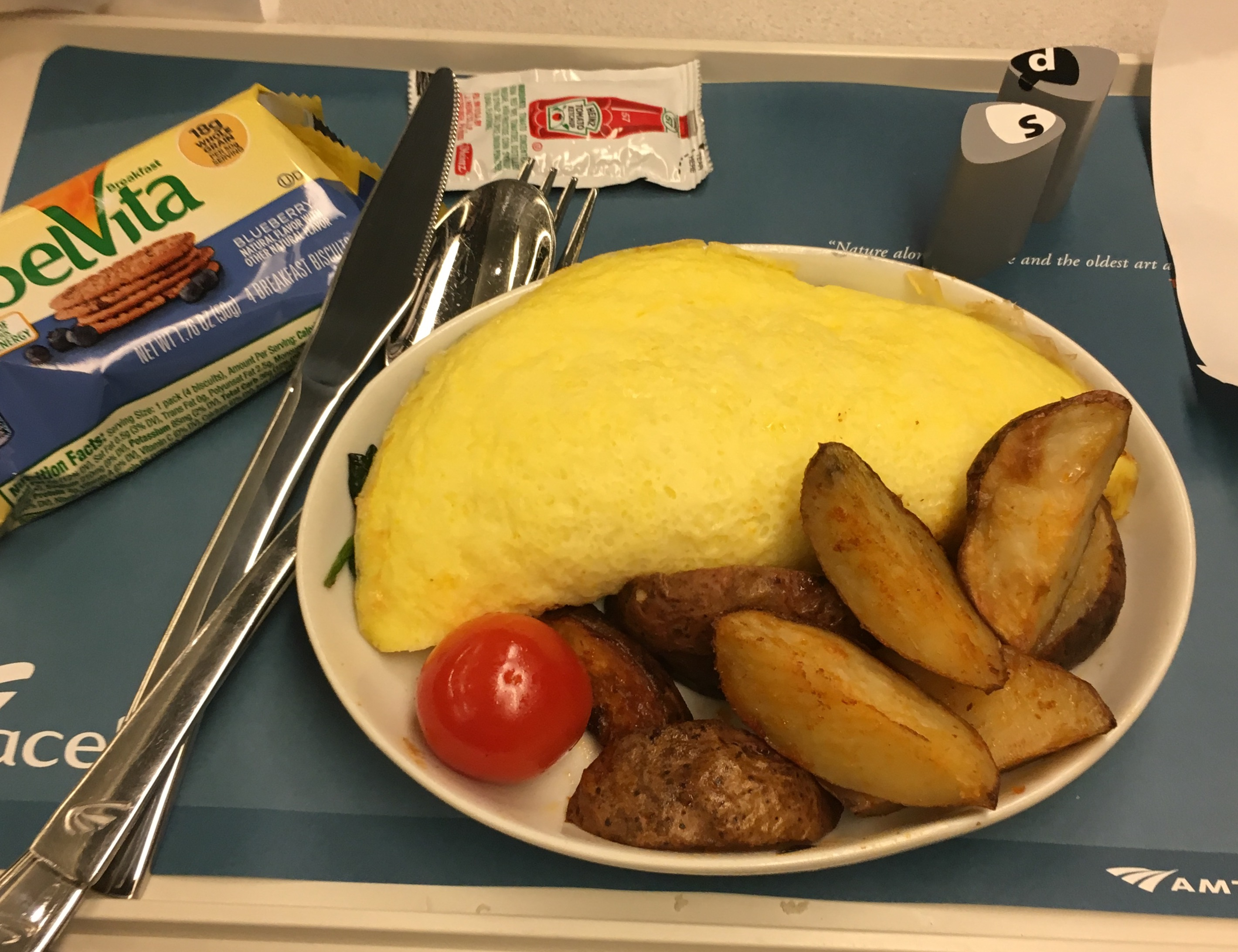 Amtrak breakfast