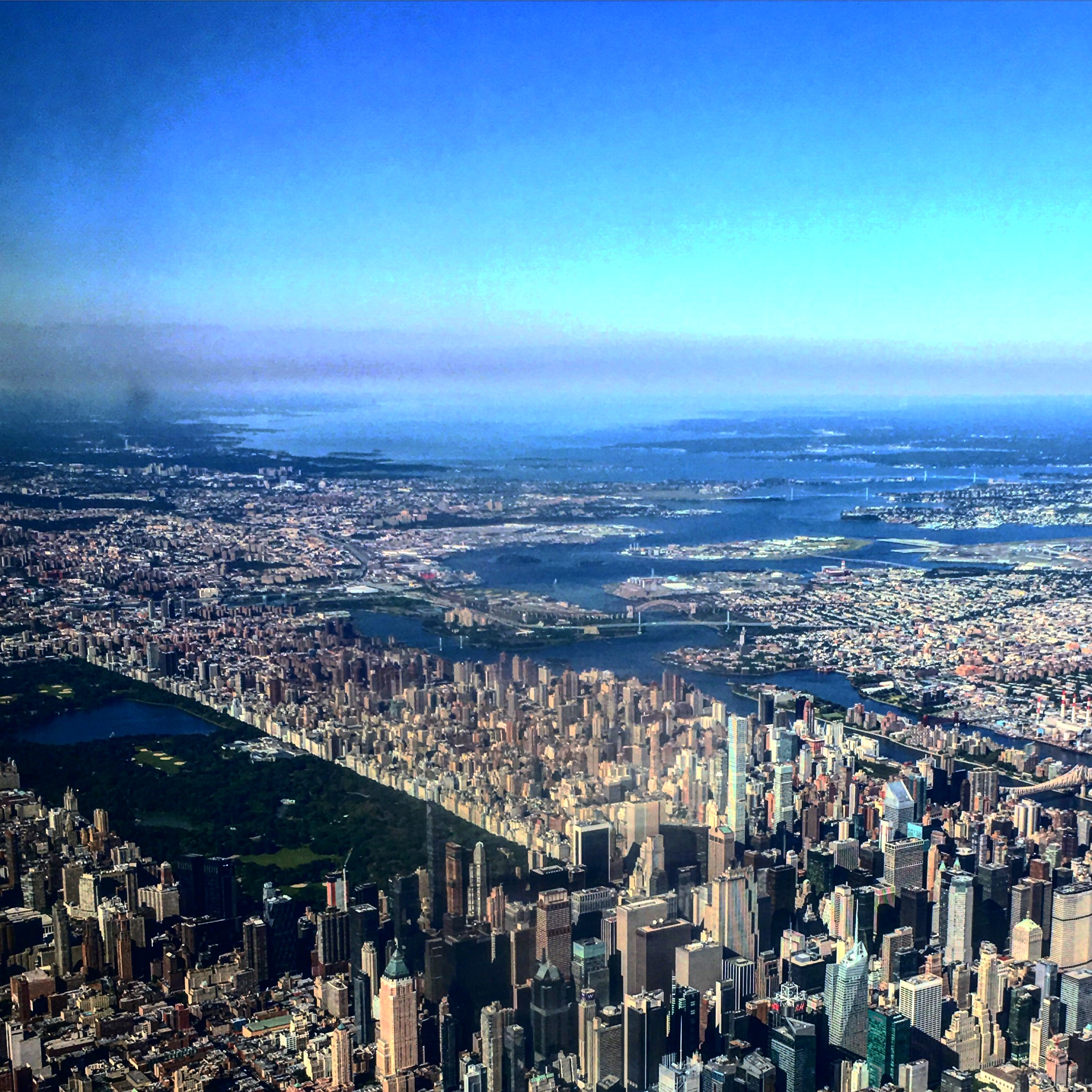 Central Park from a plane