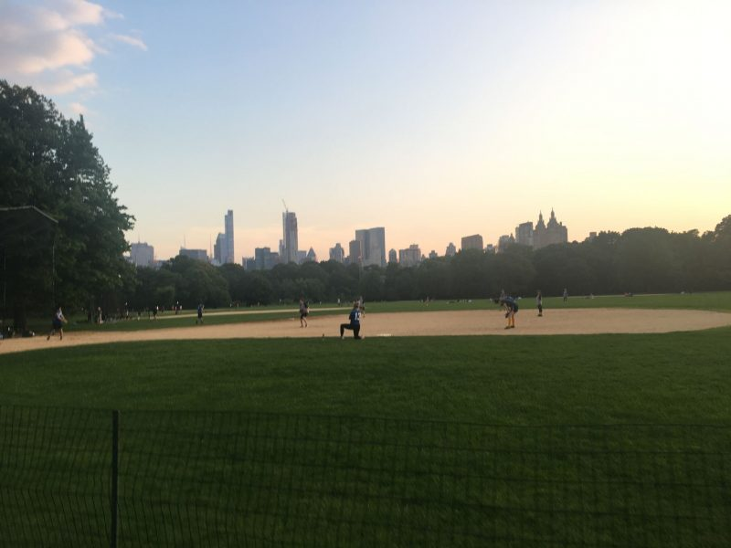 evening run in Central Park