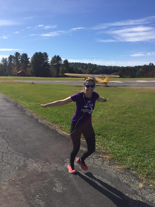 running by the Great Barrington airport