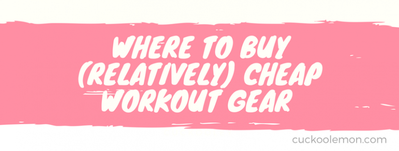 cheap workout gear